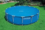 Обогревающее покрывало Intex Solar Pool Cover для бассейнов (457см) , фото 4