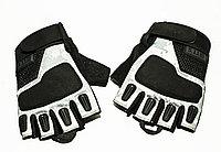 Тактические перчатки 5.11 беспалые Oakley , 15 см, черн-бел