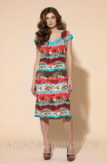 Платье - туника из вискозы с ярким принтом. Laete