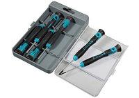 Набор отверток для точной механики, CrMo, двухкомпонентные рукоятки, 6шт., пласт. бокс GROSS