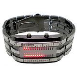 Светодиодные часы Cyber Clock с красной подсветкой, фото 2
