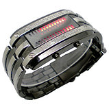 Светодиодные часы Cyber Clock с красной подсветкой, фото 3