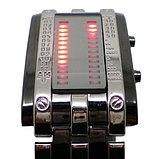 Светодиодные часы Cyber Clock с красной подсветкой, фото 4
