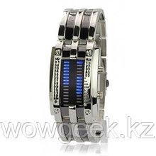 Светодиодные часы Cyber Clock с синей подсветкой