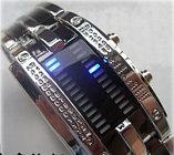 Светодиодные часы Cyber Clock с синей подсветкой, фото 2