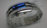 Светодиодные часы Cyber Clock с синей подсветкой, фото 4
