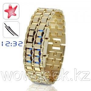 Светодиодные часы Gold Samurai