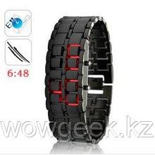 Светодиодные часы Железный самурай (ремешок черный)