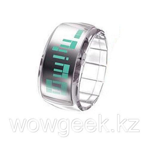 Стильные светодиодные часы - Dot-Matrix White