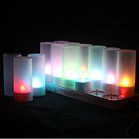 Аккумуляторные светодиодные свечи для СПА и массажных салонов, 12 шт, разноцветные