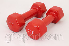 Гантели для фитнеса 7LB Red