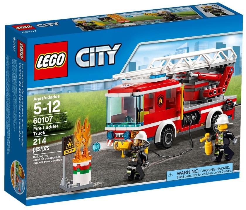 60107 Lego City Пожарный автомобиль с лестницей, Лего Город Сити