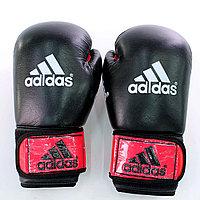 Перчатки кожанные Adidas черно-красные