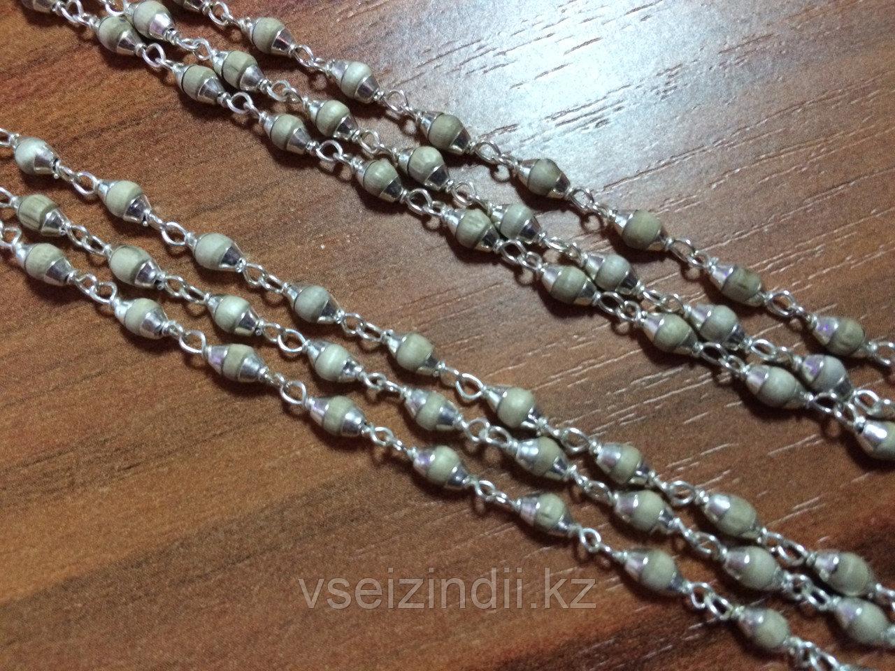 Катхиматы в серебре с Туласи, светлые, в три оборота, мелкие.