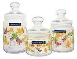 Набор банок для сыпучих Luminarc Crazy flower 0,5/0,75/1л 3пр, фото 4