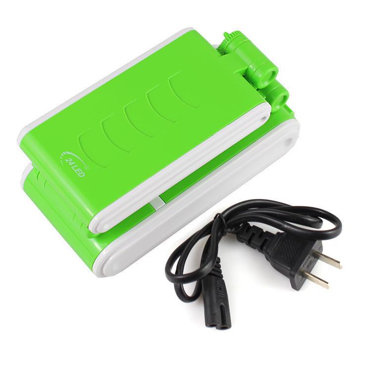 Светильник зеленый КМ-6631,складной,аккумуляторный