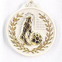 Медаль рельефная ФУТБОЛ (серебро)