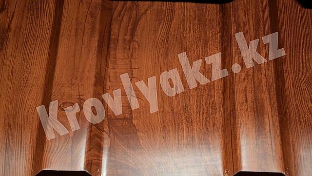 """""""Темное дерево"""", профнастил с полимерным покрытием"""