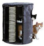 Trixie 4336 Трикси Лежак когтеточка с игрушкой на резинке, двухэтажный - 58х41 см, фото 1