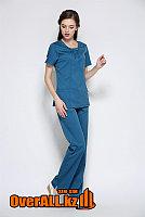 Элегантный синий медицинский костюм, фото 1