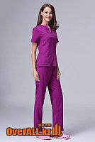 Фиолетовый женский медицинский костюм, фото 1