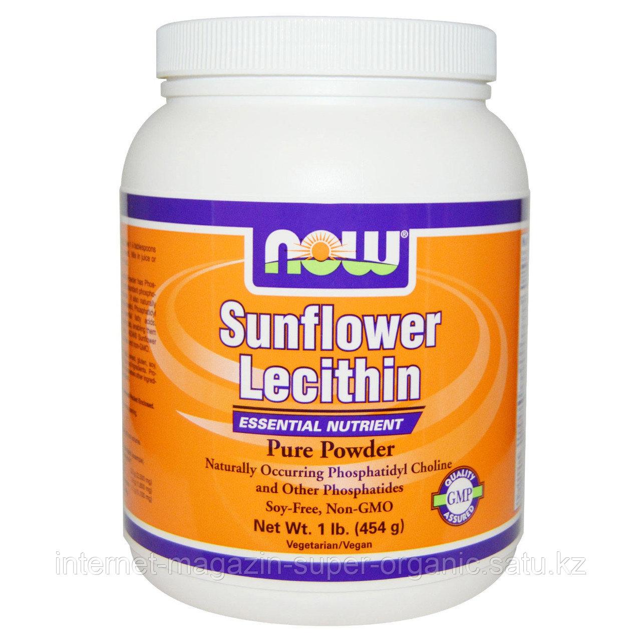 Лецитин подсолнечный, порошок, 454 г. (Sunflower Lecithin), Now Foods