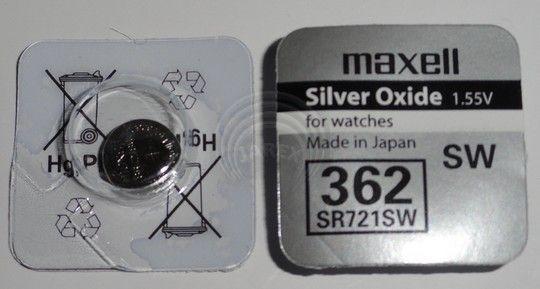 Батарея Maxell 362 1.55v  SR721SW