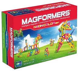 Magformers Магнитный конструктор Набор Neon color Set из 60 элементов