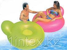 Матрас надувной для воды, с подушкой и спинкой (137х122 см)