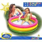Надувной бассейн Intex 3 кольца с надувным дном (86х25 см.), фото 4