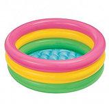 Надувной бассейн Intex 3 кольца с надувным дном (86х25 см.), фото 5