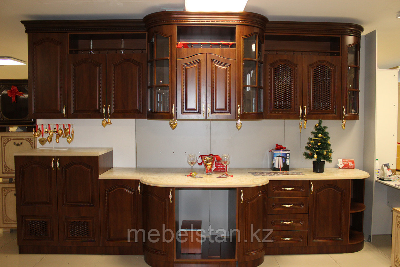СЕЛЕНА кухонный гарнитур, крем/орех