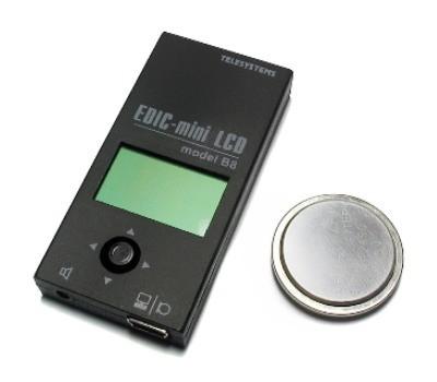 Диктофон Edic-mini B8-LCD с элементом питания