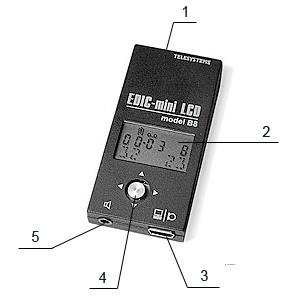 Расположение разъемов, элементов управления и индикации на корпусе диктофона