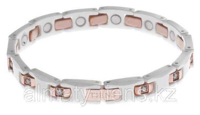 """Титановый магнитный браслет """"Тяньши"""" White"""