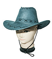 Ковбойская шляпа (стетсон), голубая, 56-58 размеры
