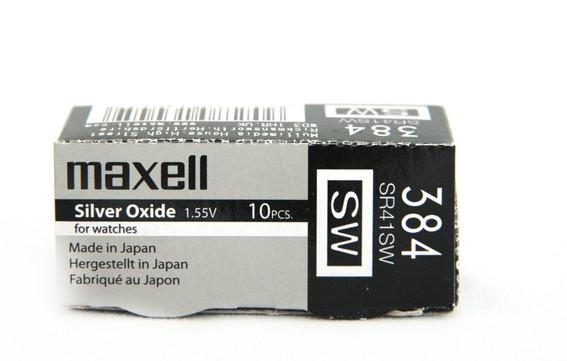 Батарея Maxell 384 1.55v  SR41SW