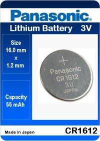 Батарейка литиевая Panasonic CR1612 3V
