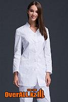 Укороченный медицинский халат с брюками, фото 1