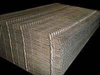 Сетчатые секция забора 3D. Ширина 2,5 метра; Высота 2,0 метра; Диаметр проволоки 4 мм, цинк