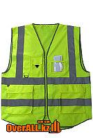 Светоотражающий жилет с карманами, фото 1