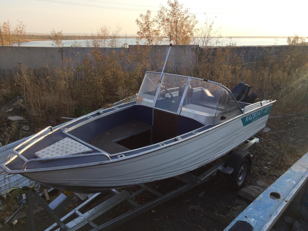 Алюминиевые мотрные лодки с дистанционным управлением Kazboat 47дс
