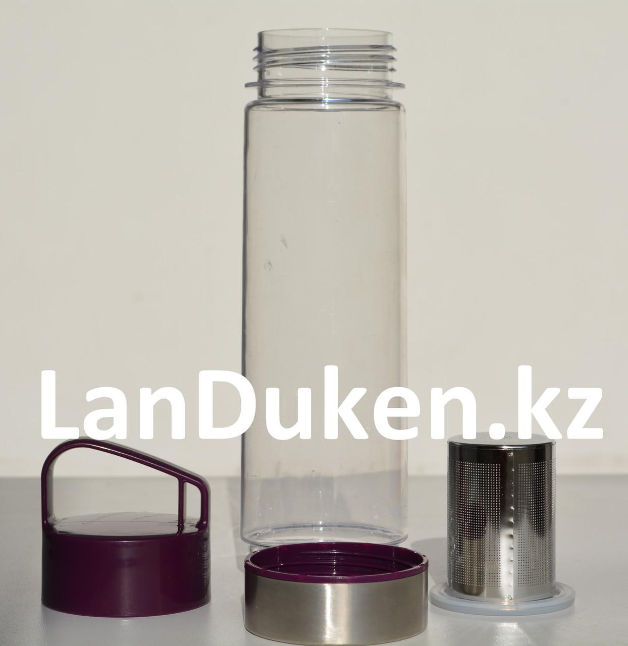 Бутылочка для воды, чая RUNRI 600 мл, емкость для воды (с заварником) - фото 2