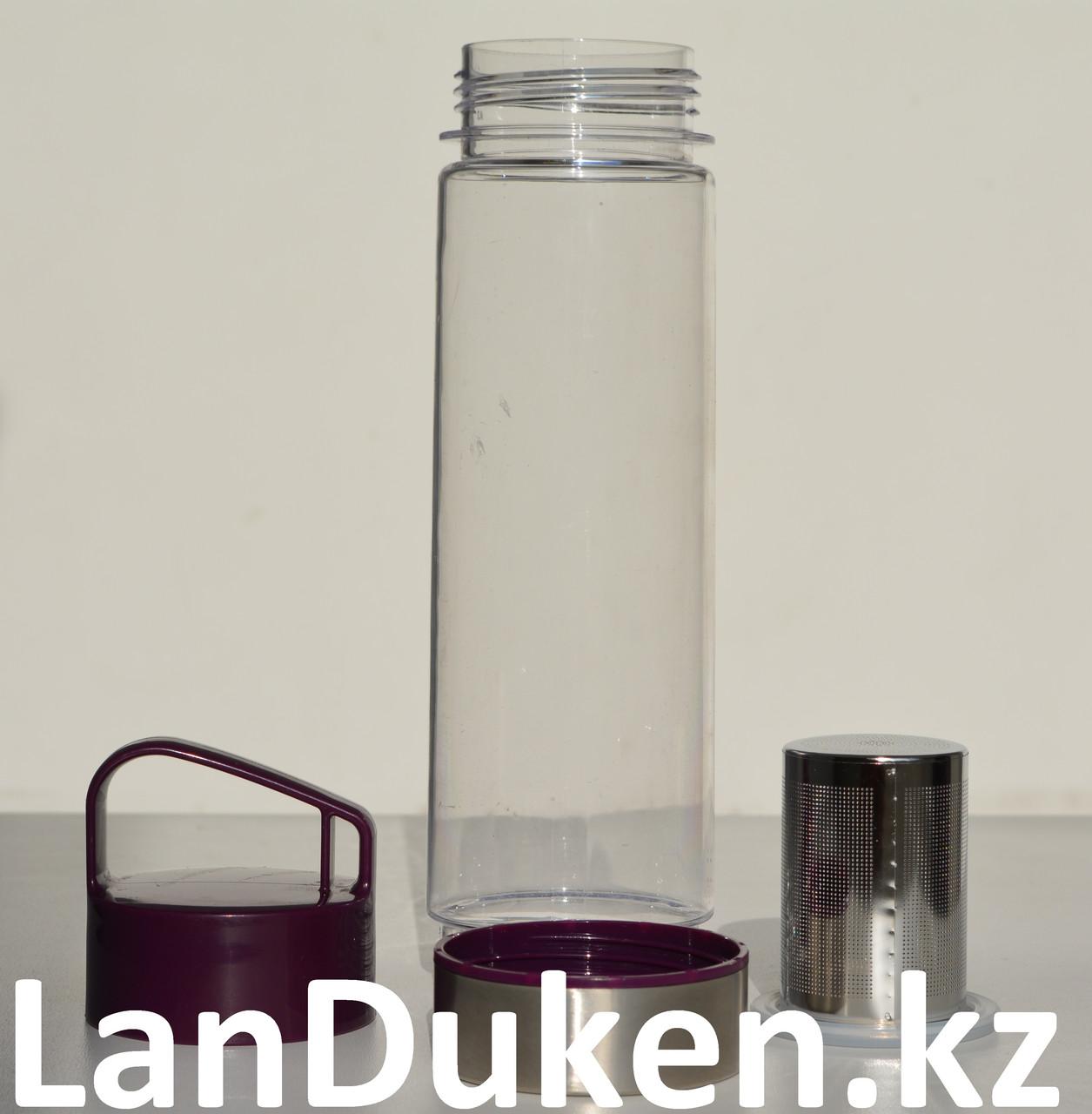 Бутылочка для воды, чая RUNRI 600 мл, емкость для воды (с заварником) - фото 6