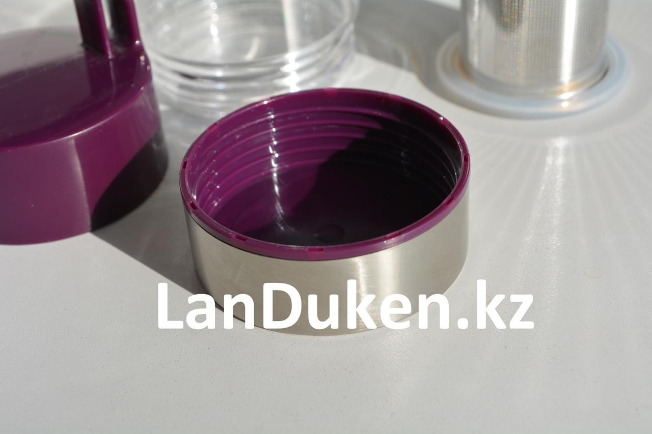 Бутылочка для воды, чая RUNRI 600 мл, емкость для воды (с заварником) - фото 4
