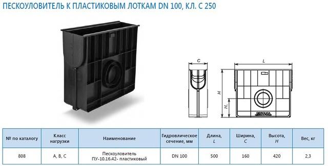 Пескоуловитель ПУ-10.16.42- пластиковый