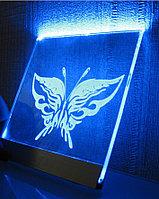 Лазерная гравировка на стекле и зеркале, фото 1
