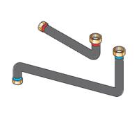 Соединительные трубопроводы для подключения справа или слева