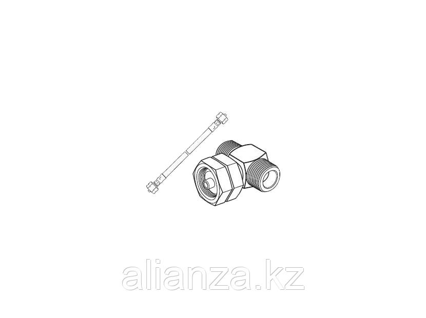 Комплект арматуры для увеличения количества баллонов: штуцер из латуни, шланг из резины и текстиля