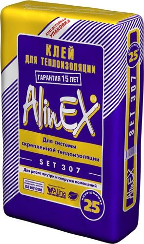 Плиточный клей СЭТ SET 307 (Alinex) 25кг.клей для пенопласта